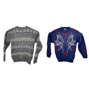 PENDLETON LOT OF 2 Mens M Virgin Wool Sweater Crew